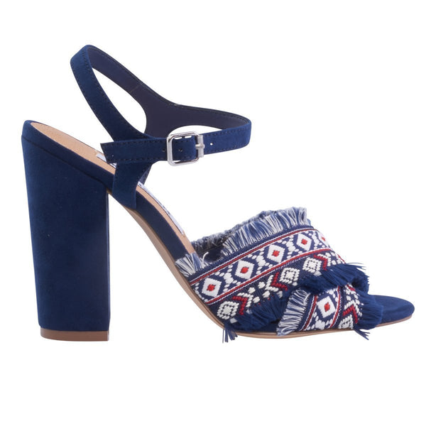 fbdbcd1d185 Madison Aria Navy Suede Block Heels ...