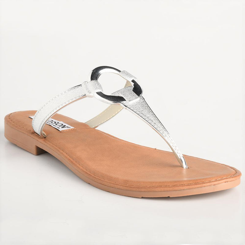 Madison Bailee Silver Flat Sandals-Madison Heart of New York-Buy shoes online
