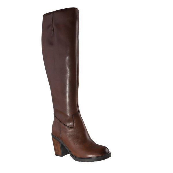 Madison Bianca Brown Leather Boots-Madison Heart of New York-Buy shoes online