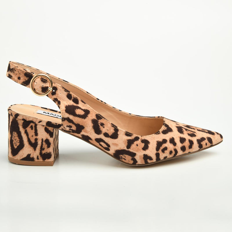 Madison Blakely Leopard Slingback Block Heels