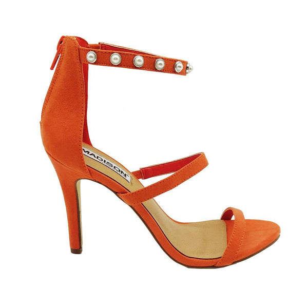 Madison Caila Orange Sandal Heels
