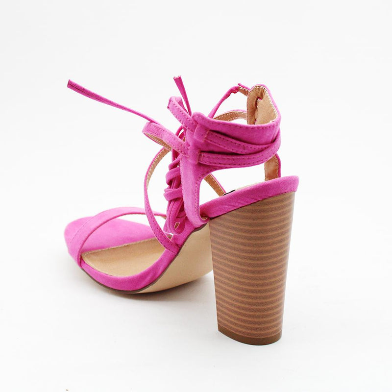 Madison Carlee Pink Block Heels-Madison Heart of New York-Buy shoes online
