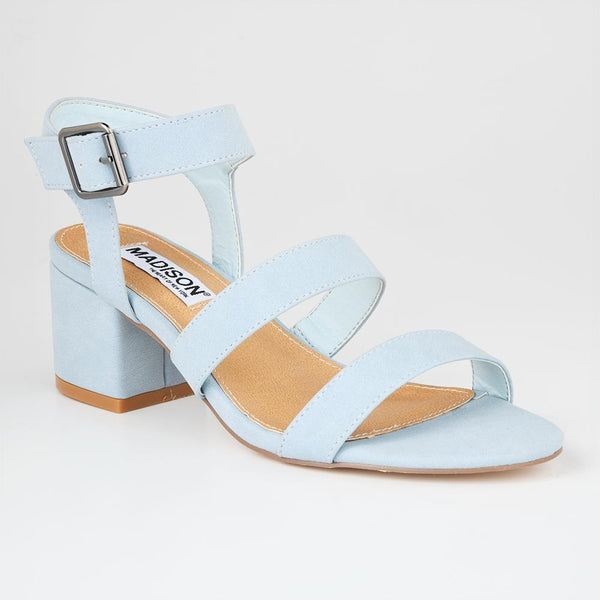 Madison Daphne Blue Block Heels-Madison Heart of New York-Buy shoes online