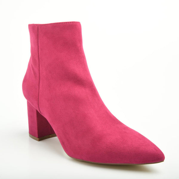 Madison Debbie Hot Pink Ankle Boots