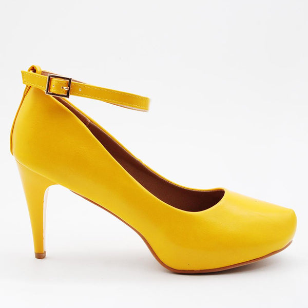 Madison Dita Ankle Strap Platform Court Heels - Yellow-Madison Heart of New York-Buy shoes online