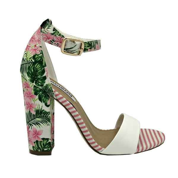 Madison Dominique Floral/Pink Block Heels