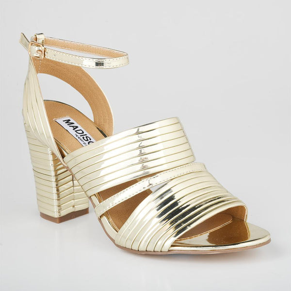 Madison Emerson Gold Block Heels-Madison Heart of New York-Buy shoes online