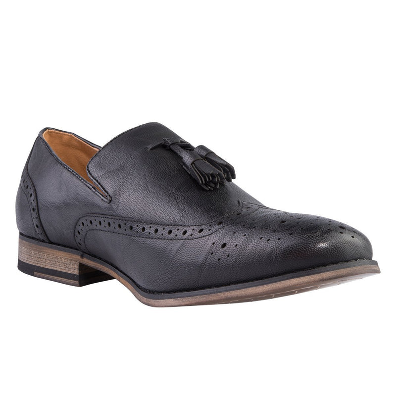 Madison George Black Mens Formal Shoes