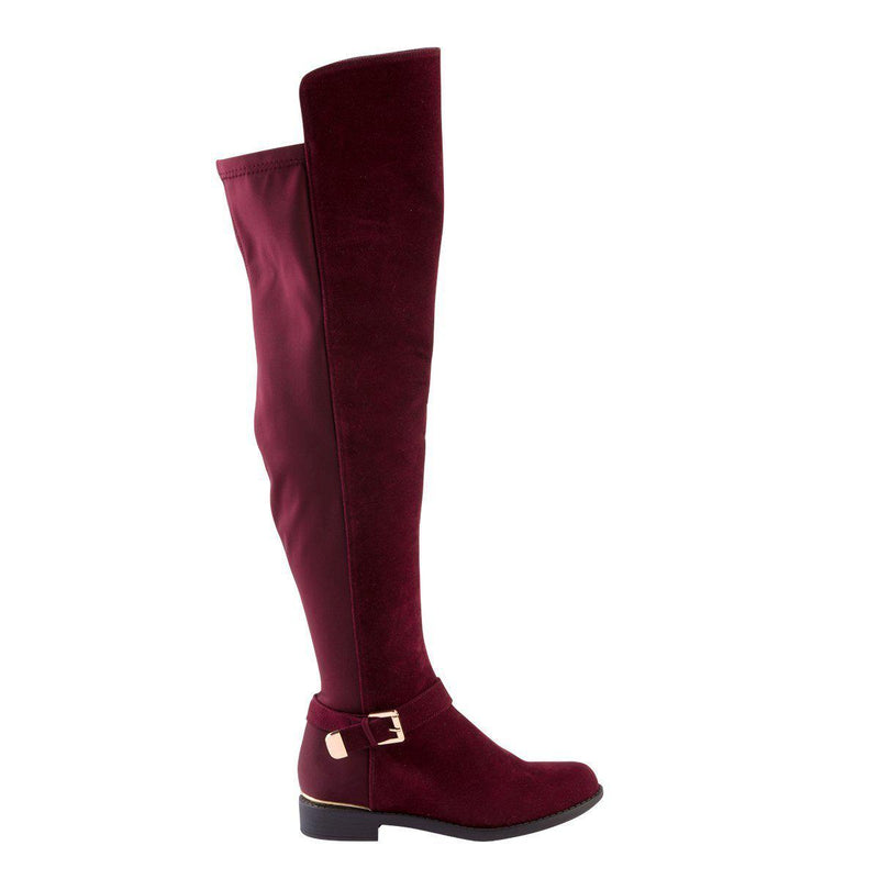 Madison Hadley Burgundy Long Boots-Madison Heart of New York-Buy shoes online
