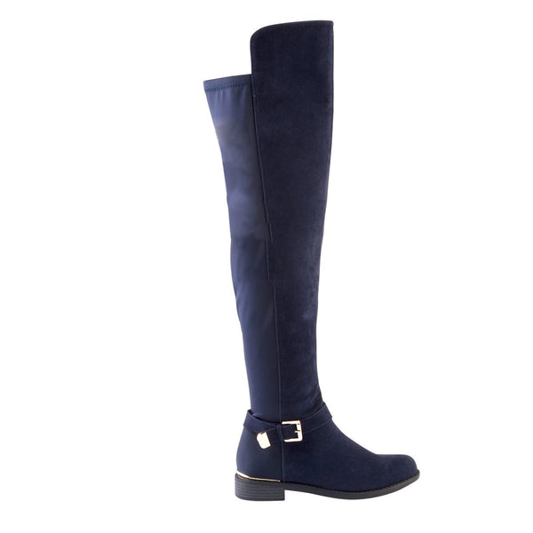 Madison Hadley Navy Long Boots