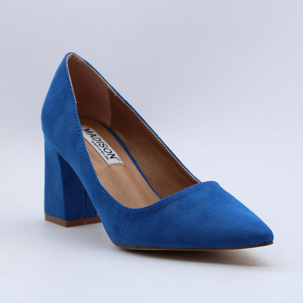 Madison Hannah Cobalt Blue Court Heels-Madison Heart of New York-Buy shoes online