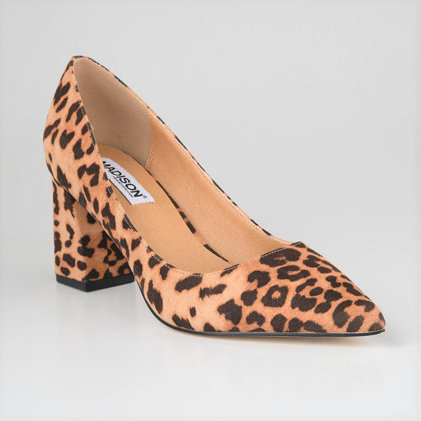 Madison Hannah Leopard Court Heels-Madison Heart of New York-Buy shoes online