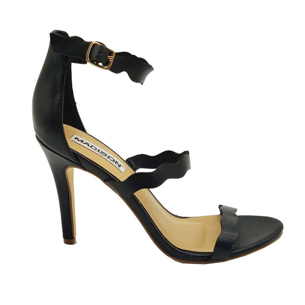 Madison Joelle Black Sandal Heels
