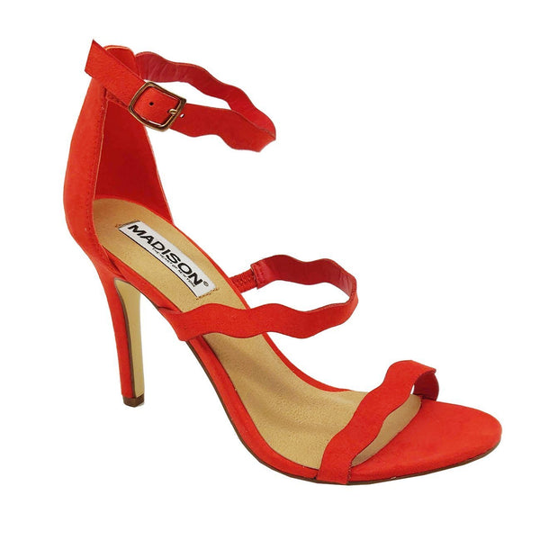 Madison Joelle Red Sandal Heels