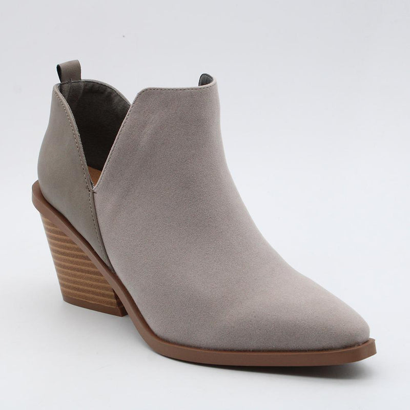 Madison Kloe Cut Out Boot - Grey-Madison Heart of New York-Buy shoes online