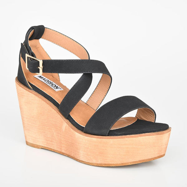 Madison Kyle Black Wedge-Madison Heart of New York-Buy shoes online