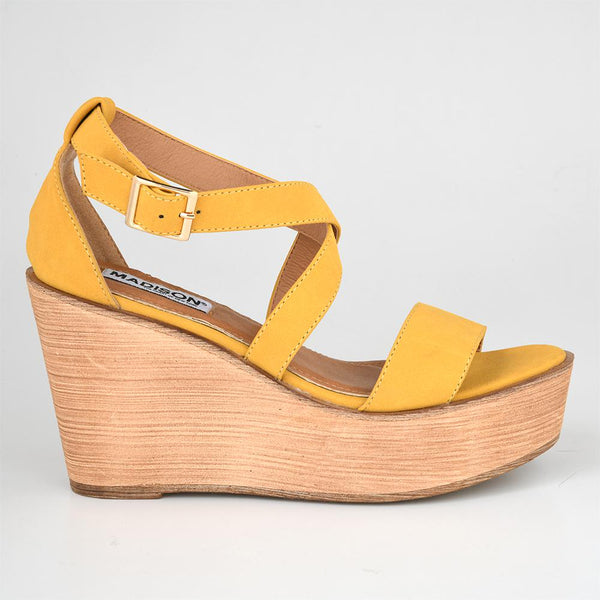 Madison Kyle Yellow Wedge-Madison Heart of New York-Buy shoes online