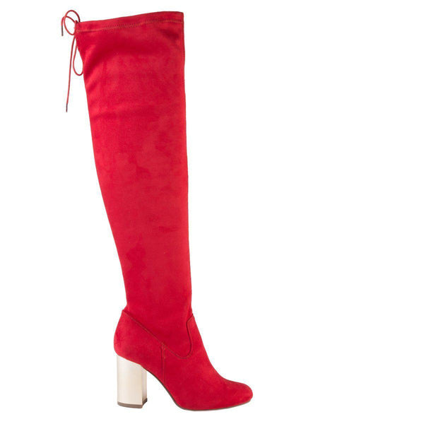Madison Lula Red Long Boots-Madison Heart of New York-Buy shoes online