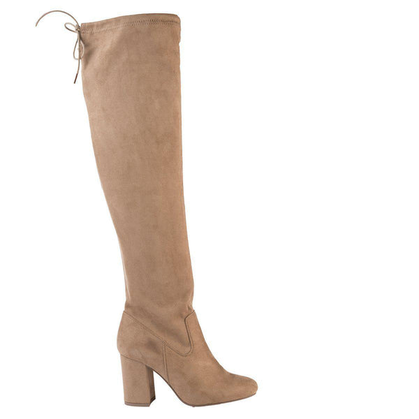 Madison Lula Taupe Long Boots-Madison Heart of New York-Buy shoes online