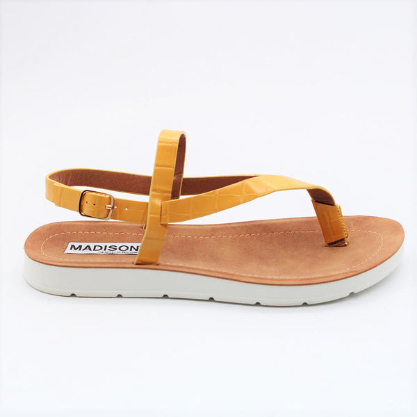 Madison Maliah Yellow Sandal-Madison Heart of New York-Buy shoes online