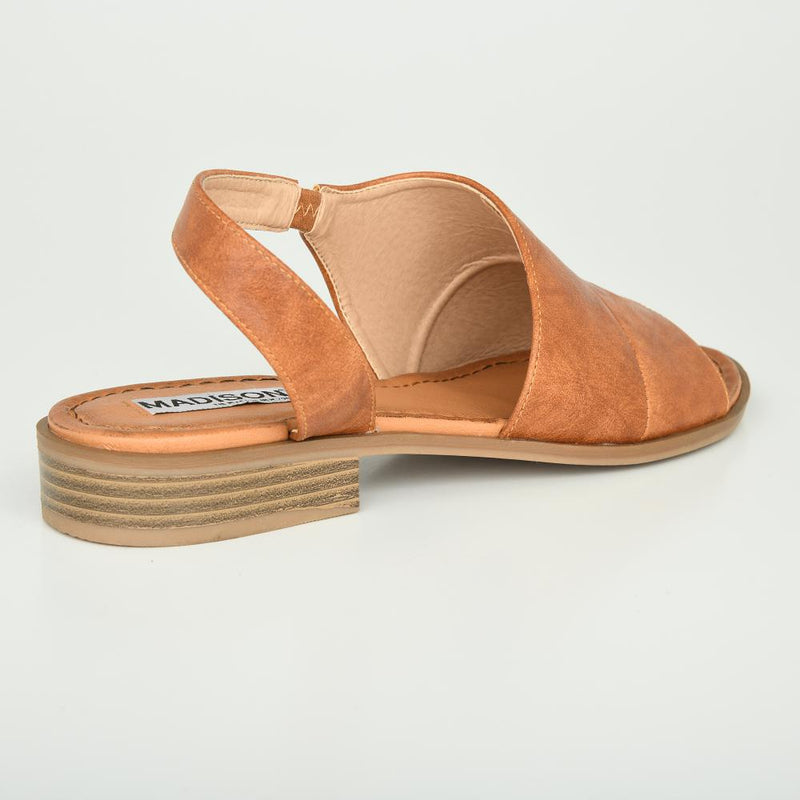 Madison Margo Tan Sandal-Madison Heart of New York-Buy shoes online