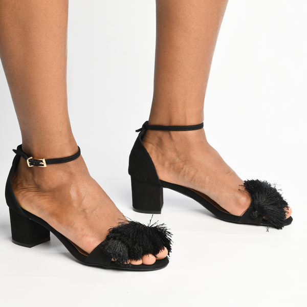 Madison Marley Black Low Block Heels