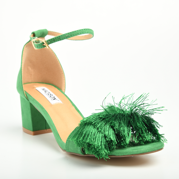 Madison Marley Green Low Block Heels