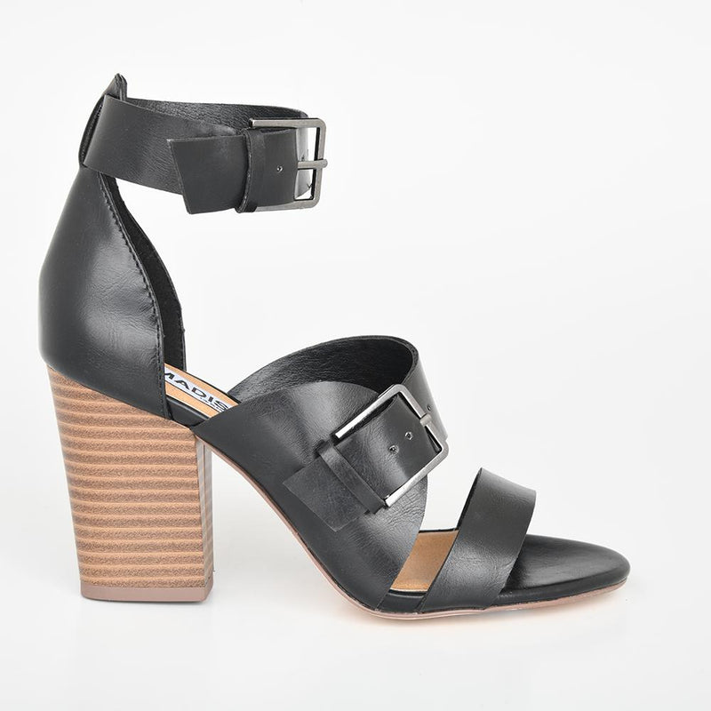 Madison Melani Black Sandal-Madison Heart of New York-Buy shoes online