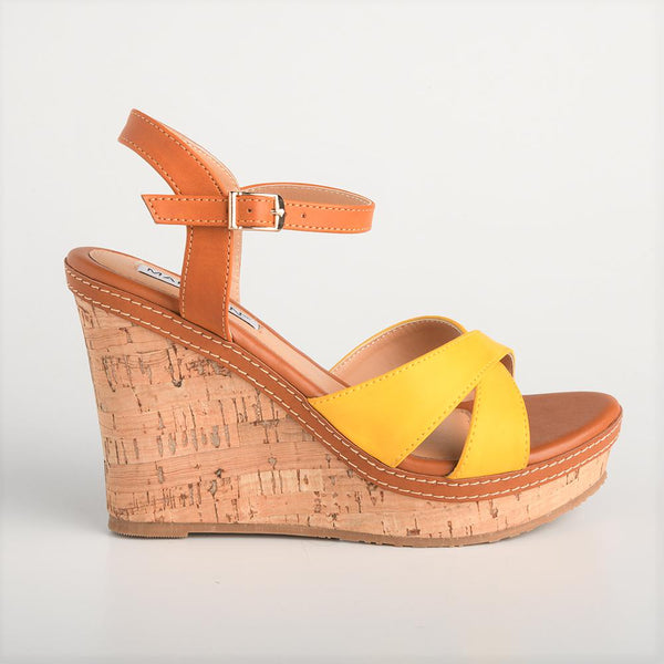 Madison Naomi Yellow Wedges-Madison Heart of New York-Buy shoes online