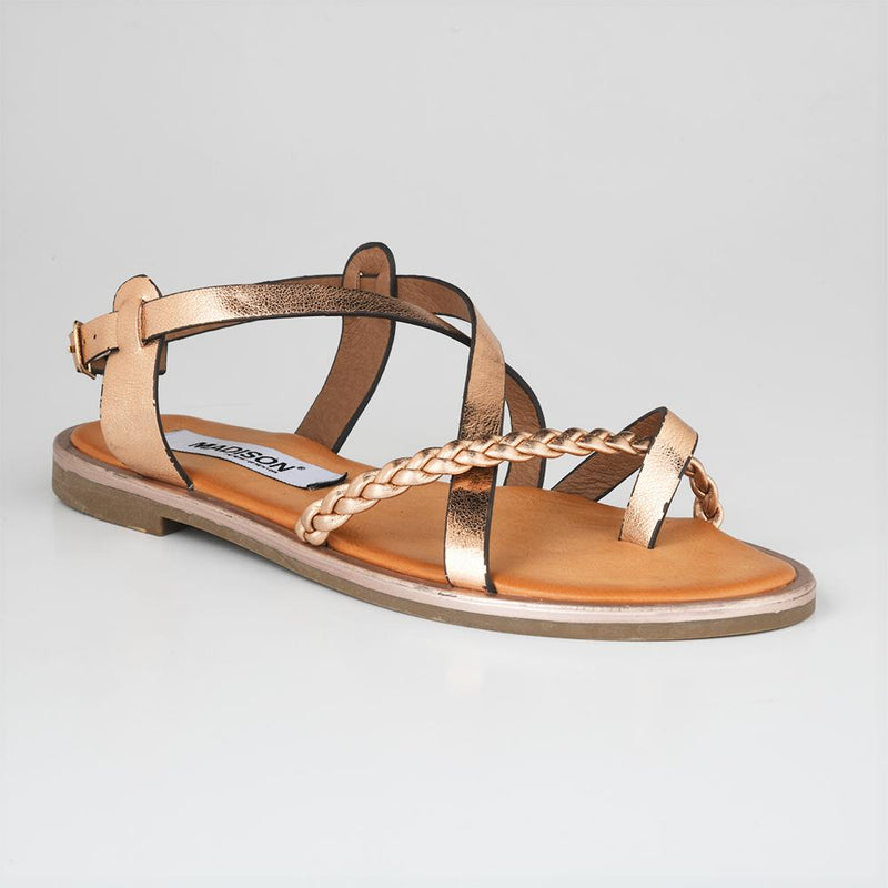 Madison Paloma Bronze Flats-Madison Heart of New York-Buy shoes online