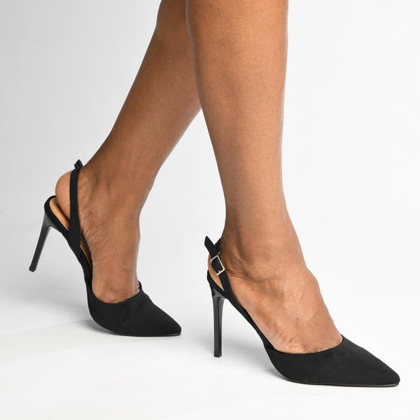 Madison Parker Black Slingback Heels