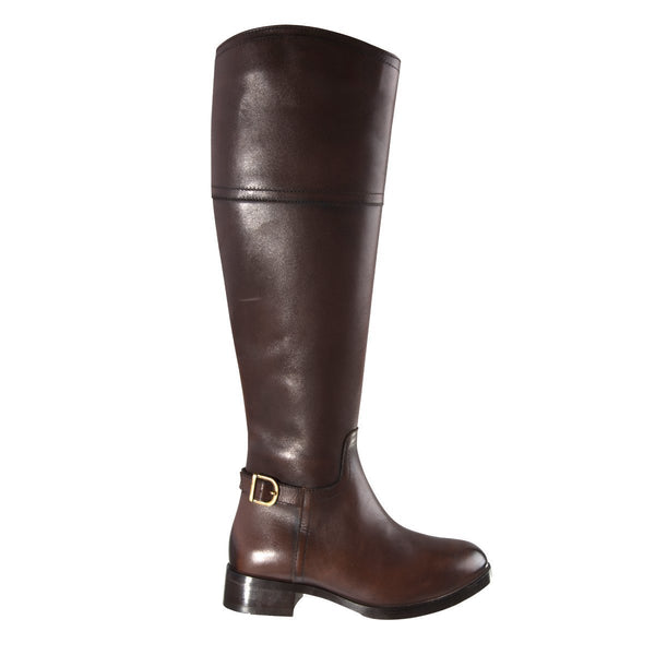 Madison Paulina Choc Leather Leather Boots