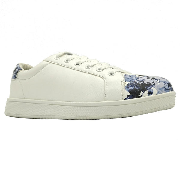 Madison Ryan White/Blue Floral Sneaker