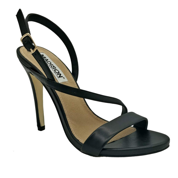Madison Sandra Black High Heel Sandals