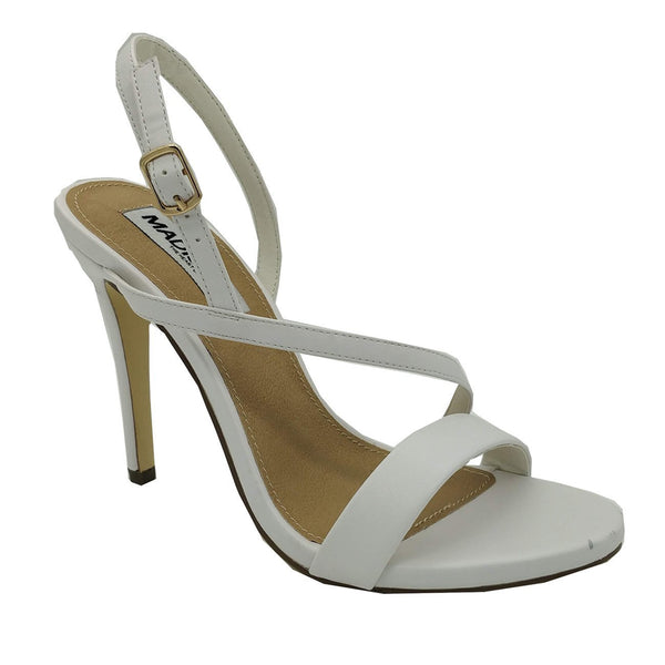 Madison Sandra White High Heel Sandals