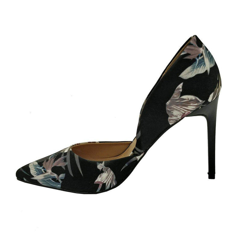 Madison Sia Dark Floral Court Heels-Madison Heart of New York-Buy shoes online