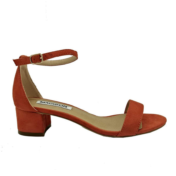 Madison Sydney Burnt Orange Block Heels