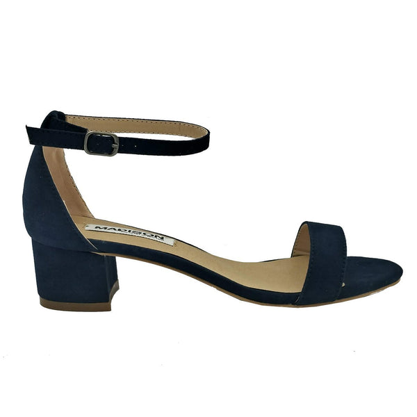 Madison Sydney Navy Block Heels