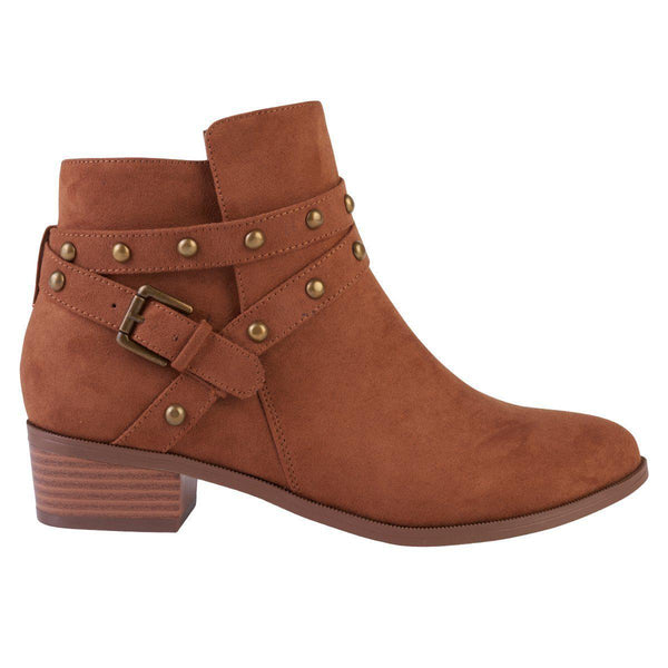 Madison Tyrelle Cognac Ankle Boots-Madison Heart of New York-Buy shoes online