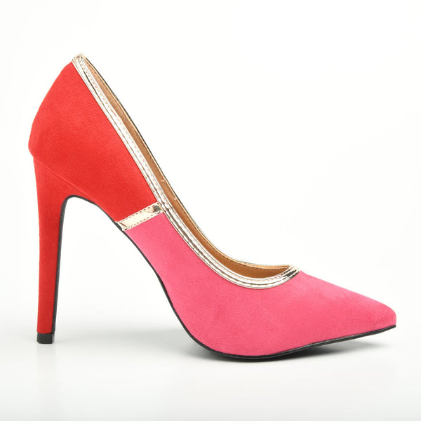 Madison Wynne Pink/Red Court Heels