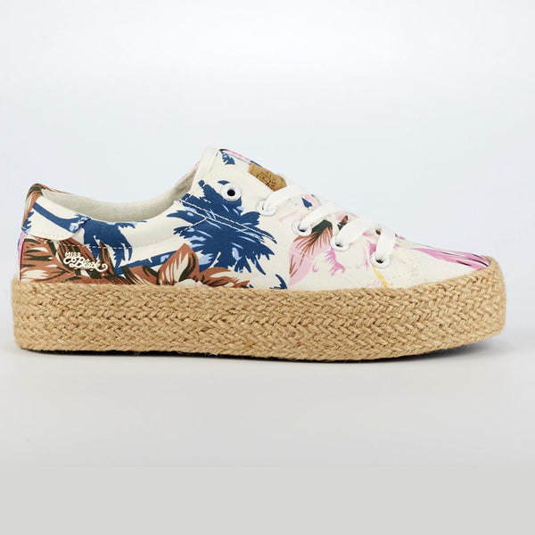 Miss Black Quebec Floral Sneaker - White-Miss Black-Buy shoes online