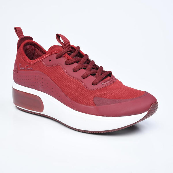Pierre Cardin Dia Women's Fashion Sneaker - Burgundy-Pierre Cardin-Buy shoes online