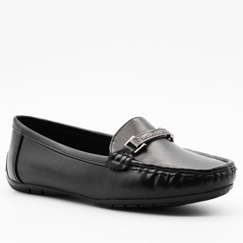 Pierre Cardin Women's Aalia Centre Trim Moccasins - Black-Pierre Cardin-Buy shoes online