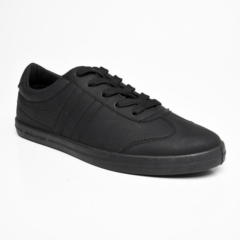 Pierre Cardin Women's Leaan Lace Up Sneaker - Black-Pierre Cardin-Buy shoes online