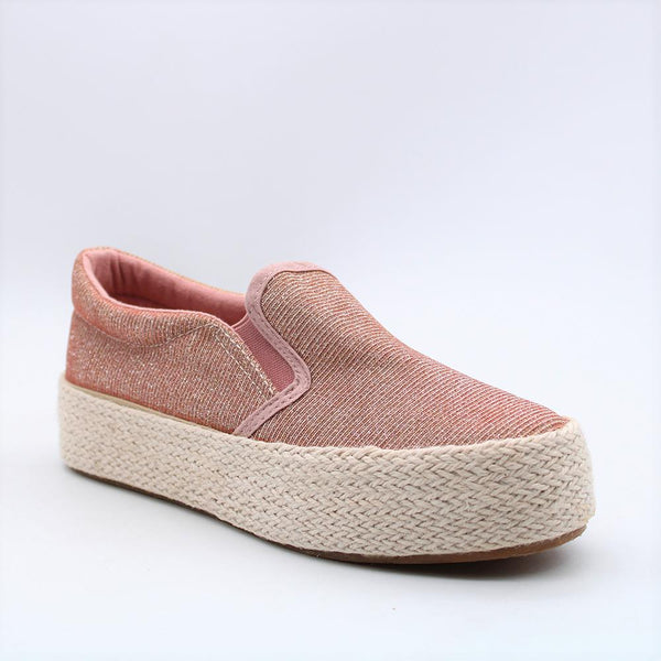 Savoy Women's Lola Slip On Flatform Sneakers - Rose Gold-Paradise-Buy shoes online