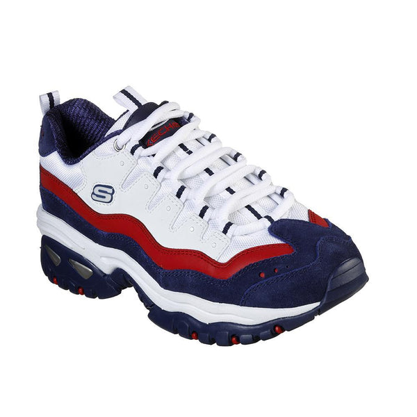 Skechers Energy Sneakers - White/ Navy-Skechers-Buy shoes online
