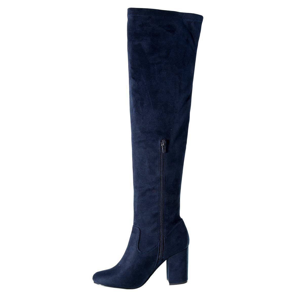 Stephanie Navy Long Boots-Madison Heart of New York-Buy shoes online