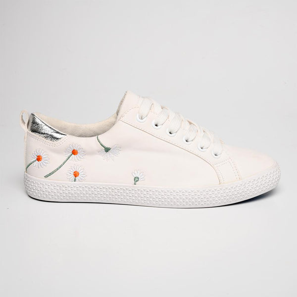 Tom Tom Women's TTL Light Daisy Sneaker - White-TOM TOM-Buy shoes online