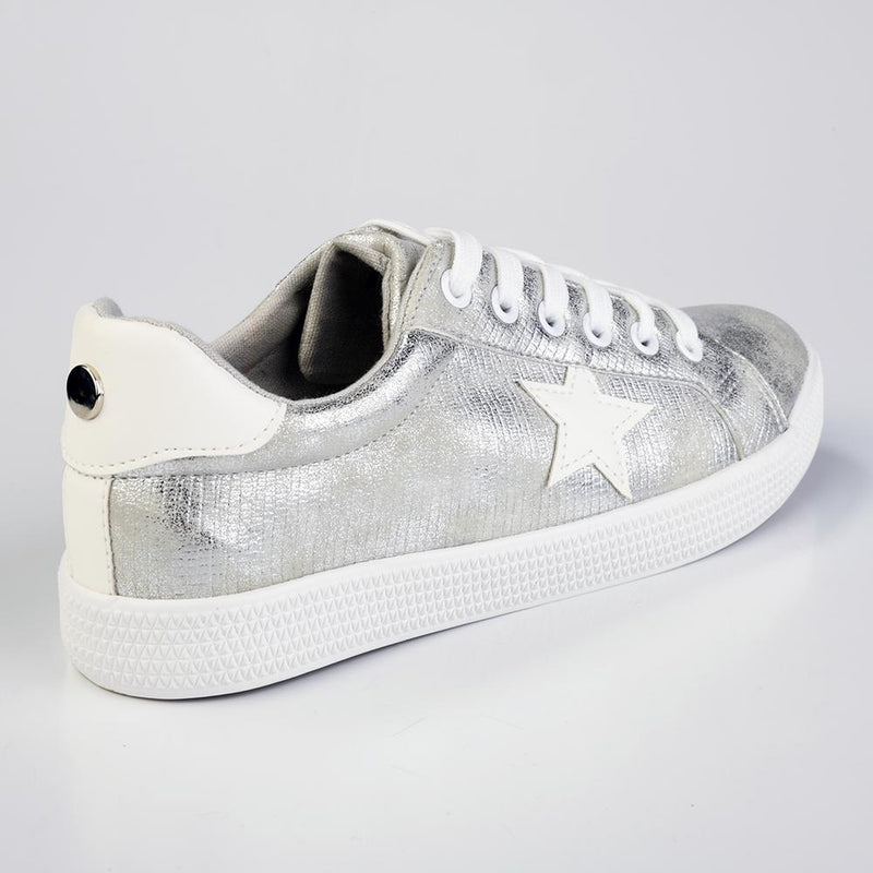 Womens Star Sneaker - Metallic-TOM TOM-Buy shoes online