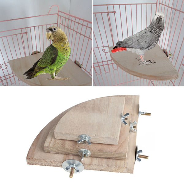 1Pc New Bird Parrot Wood Platform Stand Rack